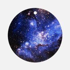 Magellanic Clouds (High Res) Round Ornament