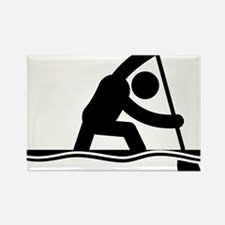 Canoe-Sprint-A Rectangle Magnet