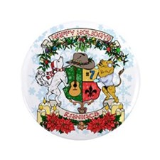 """Holiday Kaniac Crest 3.5"""" Button"""