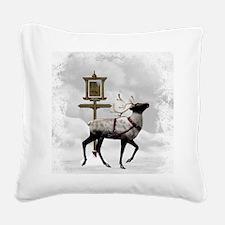 North Pole 2 Square Canvas Pillow