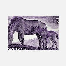 1993 Faroe Islands Horse and Colt Rectangle Magnet