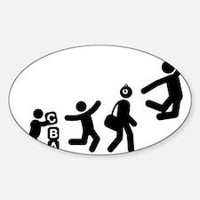 Basketball-E Sticker (Oval)
