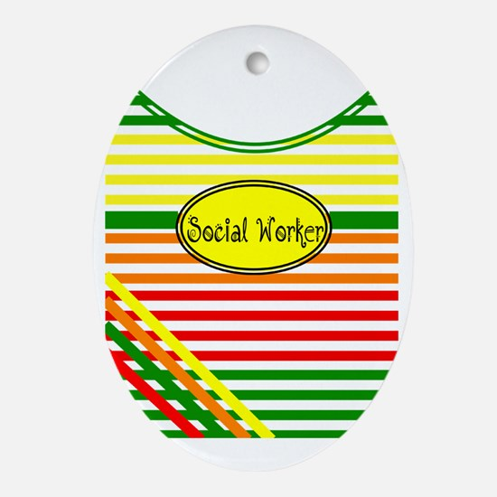 CP social worker 2 Oval Ornament