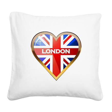 BritishHeart2 Square Canvas Pillow