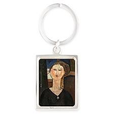 greeting_card_antonio Portrait Keychain