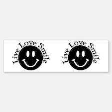 Live Love Smile Sticker (Bumper)