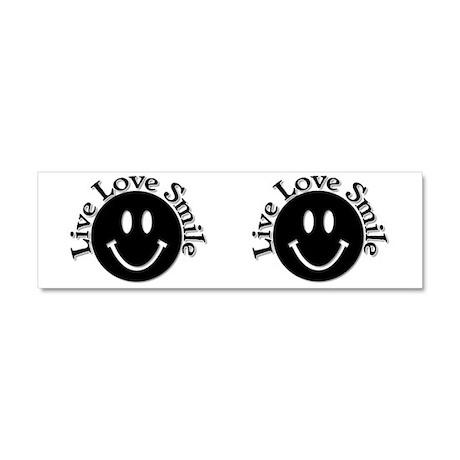 Live Love Smile Car Magnet 10 x 3