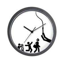 Bungee-Jumping-E Wall Clock