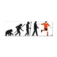 evolution soccer player Car Magnet 10 x 3