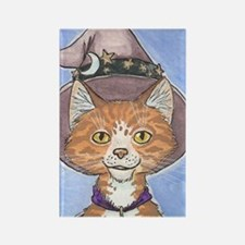 Celestial Witch Cat Rectangle Magnet
