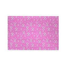 Pink Survivor Gel Mousepad Rectangle Magnet