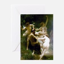 William-Adolphe Bouguereau Nymphs an Greeting Card