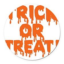 Halloween, Vintage Trick or Treat Round Car Magnet