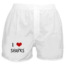 I Love Sharks Boxer Shorts