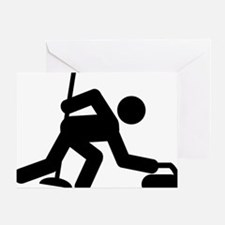 Curling-A Greeting Card
