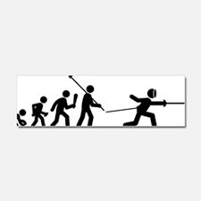 Fencing-C Car Magnet 10 x 3