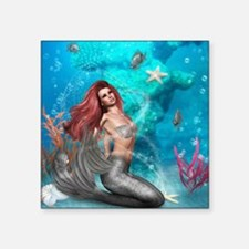 "Magic Mermaid Square Sticker 3"" x 3"""