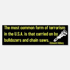 Edward Abbey on Terrorism