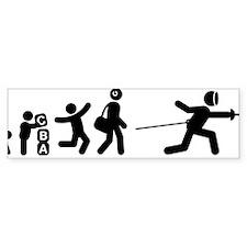 Fencing-E Bumper Sticker