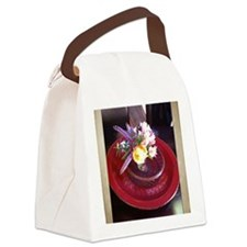 Flower arrangement at Esalen, Big Canvas Lunch Bag