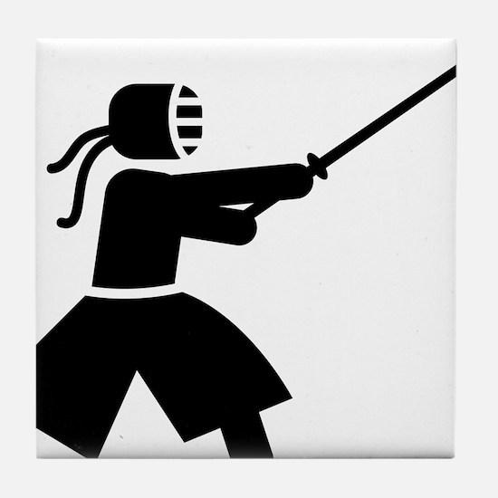 Kendo-A Tile Coaster