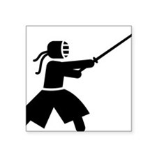 "Kendo-A Square Sticker 3"" x 3"""