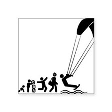 "Kiteboarding-E Square Sticker 3"" x 3"""