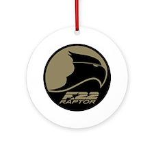 F-22 Raptor Round Ornament