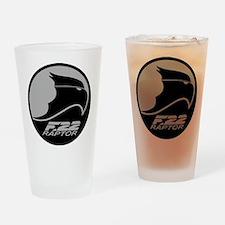 F-22 Raptor - Grey Drinking Glass