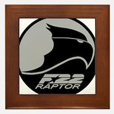 F-22 Raptor - Grey Framed Tile