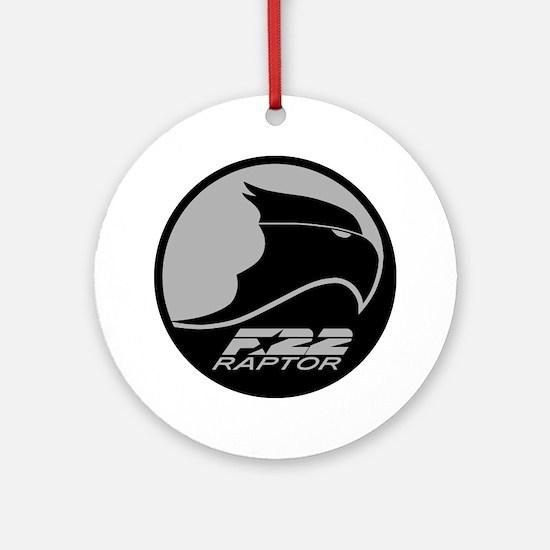 F-22 Raptor - Grey Round Ornament