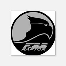"F-22 Raptor - Grey Square Sticker 3"" x 3"""