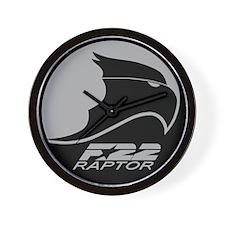 F-22 Raptor - Grey Wall Clock