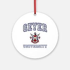 GEYER University Ornament (Round)