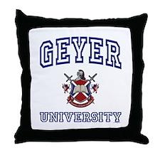 GEYER University Throw Pillow