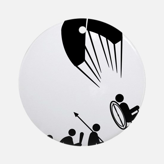 Paramotoring-C Round Ornament