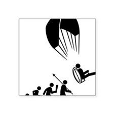 "Paramotoring-C Square Sticker 3"" x 3"""
