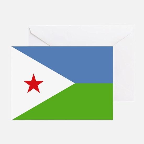 Djibouti flag Greeting Cards (Pk of 10)