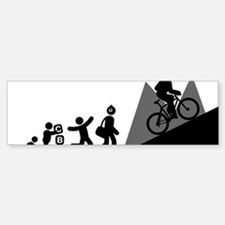 Mountain-Biking-E Bumper Bumper Sticker