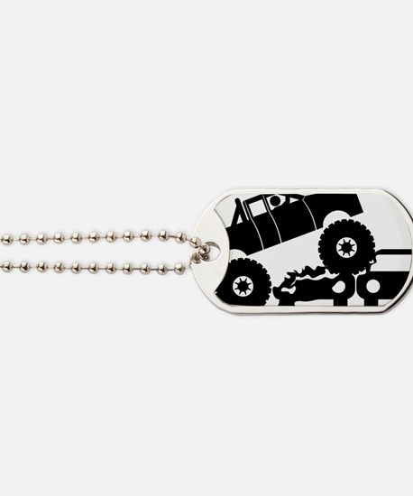 Monster-Truck-A Dog Tags