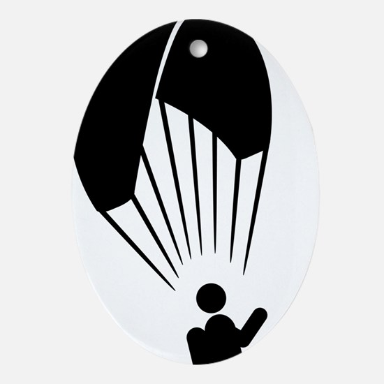 Paragliding-A Oval Ornament