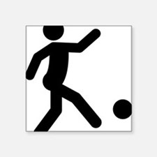 "Kickball-A Square Sticker 3"" x 3"""