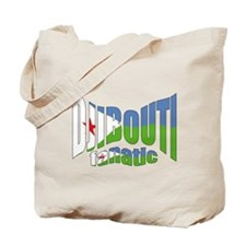 Djibouti flag fanatic Tote Bag