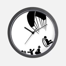 Paramotoring-E Wall Clock