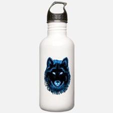 Blue Wolf Water Bottle