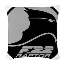F-22 Raptor - Grey Woven Throw Pillow