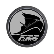 F-22 Raptor - Grey Wall Clock