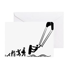 Kitesurfing-E Greeting Card