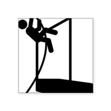 "Pole-Vault-A Square Sticker 3"" x 3"""