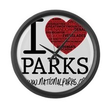 heart parks Large Wall Clock